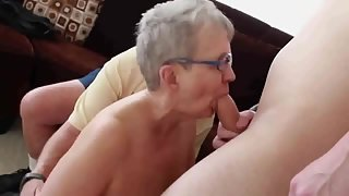 Elderly mature couple first time swinging