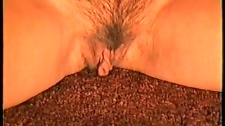 Finger in her pussy cupping breasts and fingering wet pussy