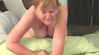 Granny's little secret - finds and meets up with big black cock to give her a good ass-fucking