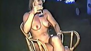 Yvonne nude outside with rock-hard nipples