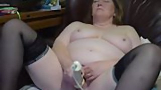 Obese 58yr older married redhead gilf playing getting off for a friend