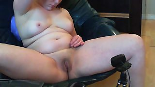 My girlfriend pussy and bra-stuffers on her webcam