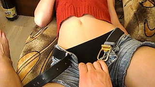 Bulgarian first-timer couple utter lenght homemade hump tape point of view flick