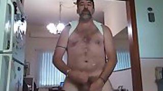 Danrun blows his tastey cum on his phone