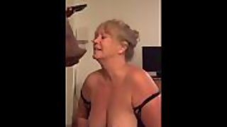 66 year elder granny is one insane dark hued cock slut