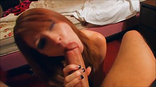 Stunning wife having fun with spouse cock