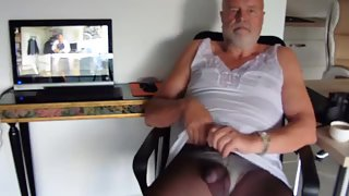Wanking mature german sissy queer