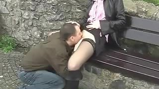 Couple doing naughty things in public places