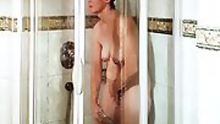Milf sandra tugging in the shower