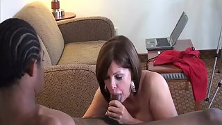 Wife and a well hung black bull feeling his size in her hatch and snatch