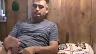 Wife recording husband masturbating to orgasm