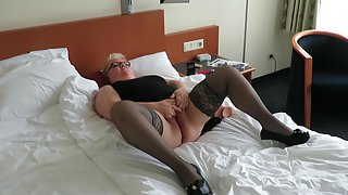 Playing with my fuck stick at a hotel room and havin so much fun