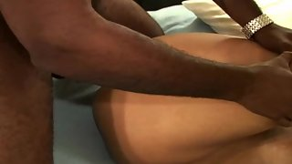 Busty latin wifey double penetrated during bi-racial threesome