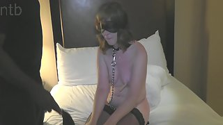 Insatiable amateur wife loving naughty sadism & masochism act with a black dude