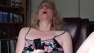 The mrs likes to observe porno and masterbate