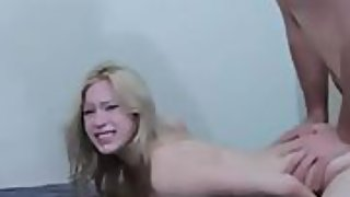 Bony blonde with lovely titties fucked like a fuckslut