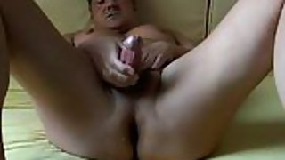 Jizm in holiday playing with my cock