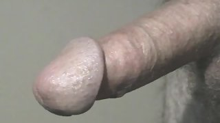 Cum pool formed from hot cum flowing from mushroom head after long vibration