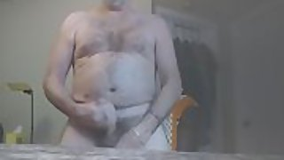 Danrin daddy flaps his cock and blows a load rock hard here