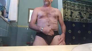 Hick cum spurts and panty play