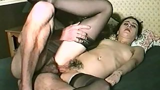 Elder stud paying for hook-up with a lovely young brunette