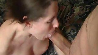 Subjugated pecker sucking wife receiving her creamy desert