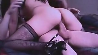 Asian trophy wife pampers sexy hung spouse