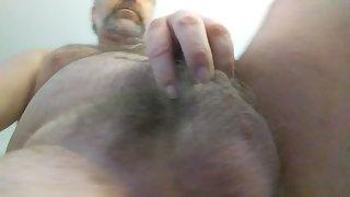 Danrun spunks hard into 1 of his porn magazines