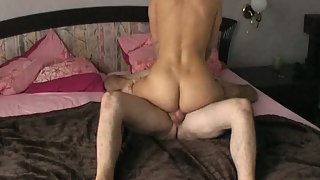 Camera recording me and wifey getting it on in the bedroom railing cock