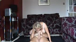 A mature uk gilf smashing a younger stud and rocking him silly