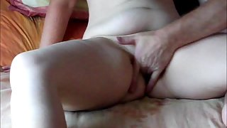 Wife squirts then gets romped till she is creamed