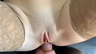 Young wife fucked in the ass by her husband's friend