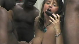 Blacks tag teaming white bitches at sex party