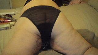 Bbw wearing black panties ass wiggling for you love teasing